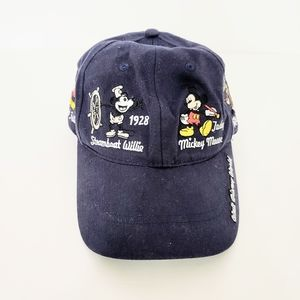 Disney Mickey Mouse Adult Navy Embroidered Hat